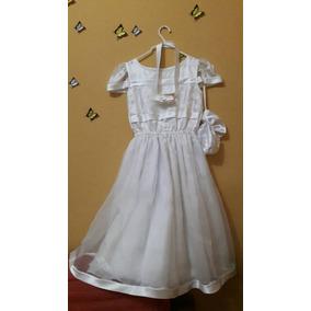 Vestido Blanco De Niña Para Bautizo, Boda O Comunión