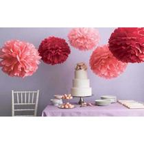 Balão Flor Pompom Decorativo Em Papel Seda 15 Cm