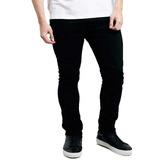 Jean Chupin Hombre Talle Especial Elastizado Negro Pantalon