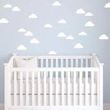 Kit De 50 Nuvens Adesivo Parede Infantil Quarto Bebe +barato
