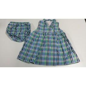 Vestido Gocco Rayas Azul/verde Bebe Niña. La Segunda Bazar
