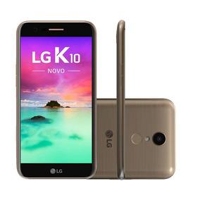 Smartphone Lg K10 Novo M250ds Dourado Novo Com Nota Fiscal