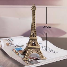Torre Eiffel Paris Metalica 25 Cm Recuerdos Centros De Mesa