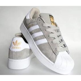 zapatillas superstar grises