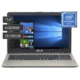Laptop Asus 15.6 Intel Celeron 500gb 4gb,windows 10 Sellado