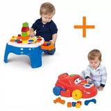 Mesa + Carro Didático Atividades Infantil Cotiplás P/ Bebês