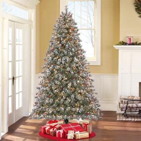 Arbolito De Navidad 2.286 Mts Con 500 Mini Luces Instaladas
