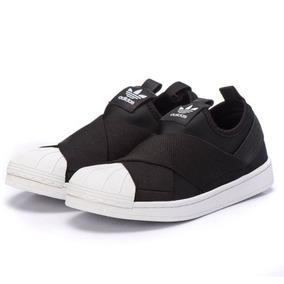 41338da1d87 Tenis adidas Slip On Superstar Unisex Original Black Estilo