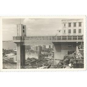 Foto Antiga Do Elevador Lacerda Salvador Bahia C. 1960