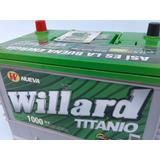 Baterías Carro Willard Titanio 1000 Respaldo Peláez Hermanos