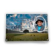 Placa Con Foto Para Lapidas, Nicho, 24x18cm, 1ra Calidad.