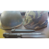 Casco Militar Mas Bayoneta De Fal