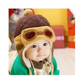 Touca Gorro Aviador Piloto Menino Infantil Criança Boné Luxo