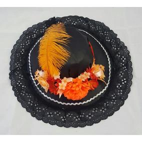 Sombrero De Catrina Niña Día De Muertos Halloween Disfraz
