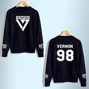 Sudadera Seventeen Kpop Moda Coreana Unisex Envio Gratis