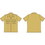 Camisa Bege Manga Curta Masc. Sob Medida Conforme Rue