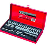 Kit Ferramentas Profissional 38 Pecas Mtx Caixa Metal