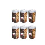 Conjunto 6 Potes Herméticos 1,2 L Acrílico Mantimentos Bisc