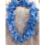 01 Colar Havaiano Azul Tecido
