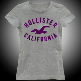 Camiseta Baby Look Feminina Hollister California