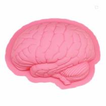 Forma De Silicone Cérebro Para Bolo Pudim Gelatina Pão 22cm