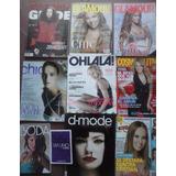 Lote Revistas Moda Femeninas Cosmopolitan Glamour Ohlala