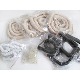 Lote X52 Unidades Cable Teléfono Cordón Espiral Rj11 + Pin