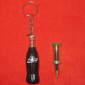 Llavero Vintage Coca Cola Bolígrafo O Pluma Tinta Recargable