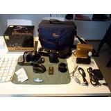 Camara Nikkon D90 Con Lente Kit Y Accesorios Varios 22k Disp