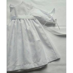 Vestido Broderie Importado Blanco Talle 2
