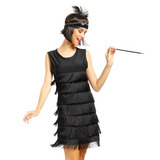 Las Señoras 1920s 1930s Aleta Traje Aleta Vestido Disfraz +
