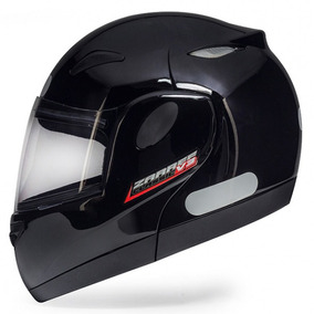 Capacete Moto Escamoteável Bullitz Zarref V3 Preto Brilho