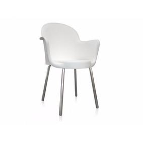 Cadeira Boston/gogo Com Braço C/ Pés Cromados