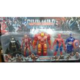 Set Figura Articulada Avenger X5, Spider, Iroman, Hulkbuster