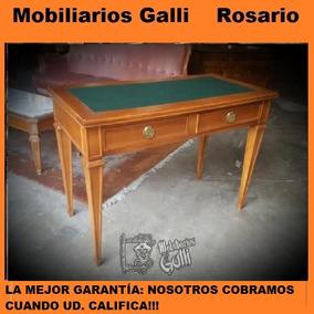 Mobiliarios Galli Mesa Escritorio Estilo Inglés Maciza