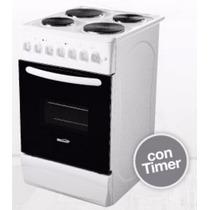 Cocina Electrica Brogas 4 Hornallas Y Horno Brogas C/ Timer