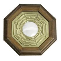 Quadro Baguá Espelho Convexo 18cm Feng Shui