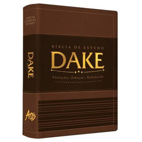 Bíblia De Estudo Dake Com Dicionário Expandido Luxo Marrom