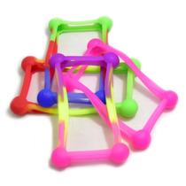 4 Bumper Universal Silicon Multicolor Bolita Celular /a