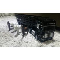 Caminhão De Controle Remoto Scania 124 Com Carreta Boiadero