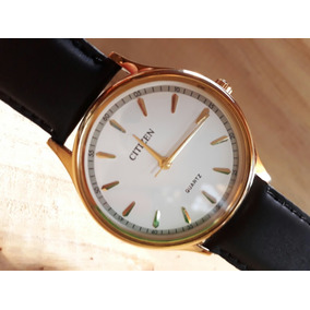 Reloj Citizen Original Enchapado En Oro De 23 Kilates Garant
