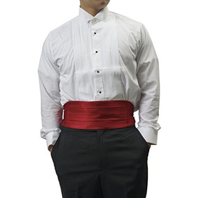 Cummerbund Formal De Borgoña Para Hombre Para Un Esmoquin