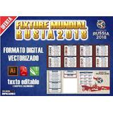 Plantilla Fixture Mundial Rusia 2018 Almanaque Vectorizada