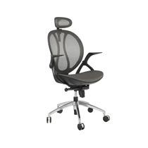 Cadeira De Escritório Sintra Preta C/cinza Base Alumínio