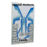 Calcos Zanella Jr 200 Celeste Azul Jgo Kit Speed Motors