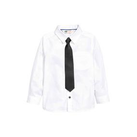 H&m Camisa Con Accesorio (corbata O Moño) T/carter