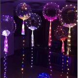 Globo Burbuja Led 60cm X 10 Un Cristal Luminosos Esfera
