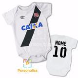 Body Infantil Personalizado Camisa Do Vasco Da Gama Com Nom