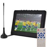 Tv Led Digital Portatil 7 Pol Cartão Usb Video Pendrive E149