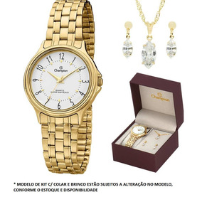 3e482da9461 Relogio Dourado Escovado - Relógios no Mercado Livre Brasil